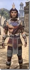 Elder Argonian Ancestor Silk - Male Shirt Close Front