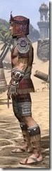 Elder Argonian Ancestor Silk - Male Shirt Side