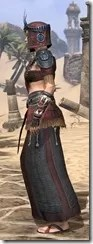 Elder Argonian - Female Robe Side