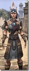 Elder Argonian Rubedo Leather - Female Close Front