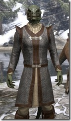 Forge-Wife's Impervious Frock Argonian Male Close Front