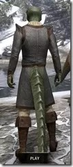 Forge-Wife's Impervious Frock Argonian Male Rear