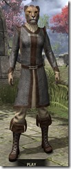 Forge-Wife's Impervious Frock Khajiit Female Front