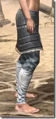 Silver Dawn Iron Greaves - Female Right