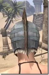 Silver Dawn Iron Helm - Female Rear