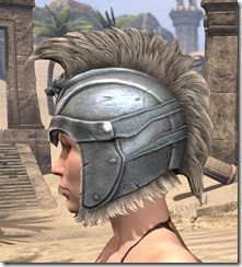Silver Dawn Iron Helm - Female Side