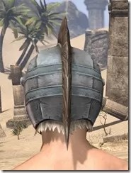 Silver Dawn Iron Helm - Male Rear