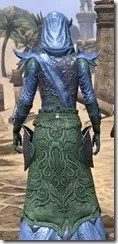 Dremora Ancestor Silk - Dyed Robe Close Rear
