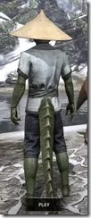 Budi-Shirt and Galligaskins - Argonian Male Rear