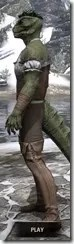 Corseted Riding Outfit - Argonian Male Side
