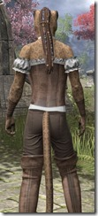 Corseted Riding Outfit - Khajiit Female Close Rear