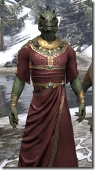 Cyrod Patrician Formal Gown - Argonian Male Close Front