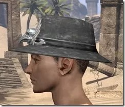 Deluxe Mourning Hat Male Side