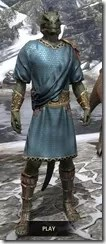 Elder Council Tunic and Sash - Argonian Male Front