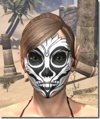 Floral Skull Face Tattoo Female Front
