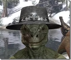 Modest Mourning Hat Argonian Male Front