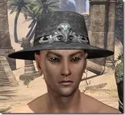 Modest Mourning Hat Male Front