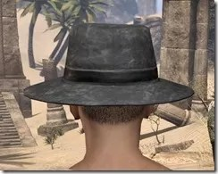 Modest Mourning Hat Male Rear