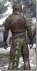 Naryu's Morag Tong Costume - Argonian Male Close Rear