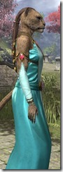 Nibenese Noble's Shawled Robe Khajiit Female Close Side