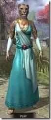 Nibenese Noble's Shawled Robe Khajiit Female Front