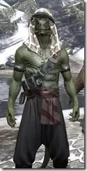 Pirate First Mate's Outfit - Argonian Male Close Front