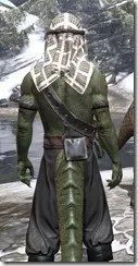 Pirate First Mate's Outfit - Argonian Male Close Rear
