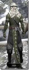 Pirate First Mate's Outfit - Argonian Male Rear