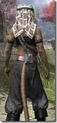 Pirate First Mate's Outfit - Khajiit Female Close Rear