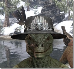 Plumed Mourning Hat Argonian Male Front
