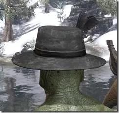 Plumed Mourning Hat Argonian Male Rear