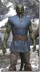 Rawhide-Laced Riften Jerkin Argonian Male Close Front