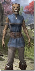 Rawhide-Laced Riften Jerkin Khajiit Female Close Front