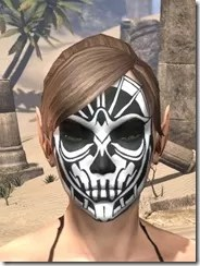 Spoked Skull Face Tattoo Female Front