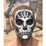 Spoked Skull Face Tattoo