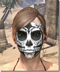Verdatn Skull Face Tattoo Female Front