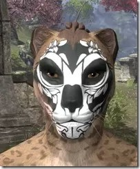 Verdatn Skull Face Tattoo Khajiit Female Front