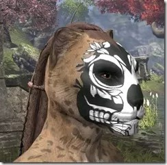 Verdatn Skull Face Tattoo Khajiit Female Side