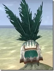 Bonding Rite Headdress Argonian Male Rear