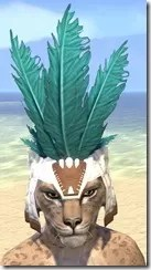 Bonding Rite Headdress Khajiit Female Front