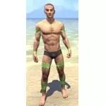 Bright-Throat Algae Body Tattoo
