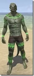 Bright-Throat Algae Body Tattoo Argonian Male Front