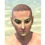 Bright-Throat Algae Face Tattoo