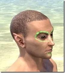 Bright-Throat Algae Face Tattoo Male Right