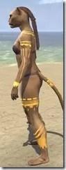 Bright-Throat Yolk Body Tattoo Khajiit Female Side