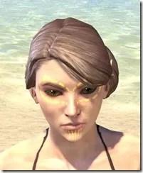 Bright-Throat Yolk Face Tattoo Female Front