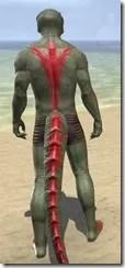 Dead-Water Blood Body Tattoos Argonian Male Rear