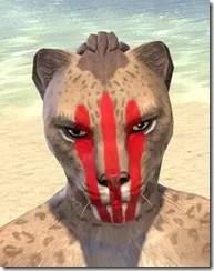 Dead-Water Blood Face Tattoos Khajiit Female Front