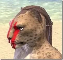 Dead-Water Blood Face Tattoos Khajiit Female Side