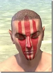 Dead-Water Blood Face Tattoos Male Front